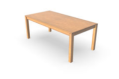 Wooden table. 3d rendering wooden table on white background Stock Photo
