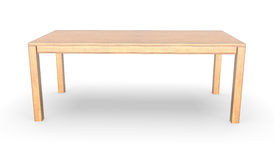 Wooden table. 3d rendering wooden table on white background Royalty Free Stock Photo