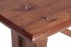 Wooden table detail Royalty Free Stock Photography