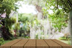 Wooden table stock illustration