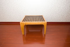 wooden table on floor Royalty Free Stock Photos