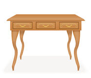 Wooden table furniture vector illustration Royalty Free Stock Photos