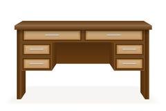 Wooden table furniture vector illustration Stock Photo