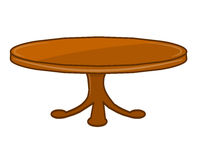 Wooden table  illustration Stock Images