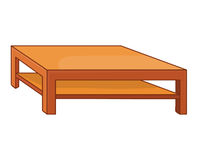 Wooden table  illustration Stock Photography