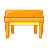 Wooden table isolated illustration Royalty Free Stock Images