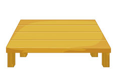 Wooden table isolated illustration Stock Images