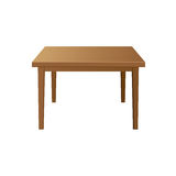 Wooden table. Isolated illustration on white background Royalty Free Stock Images