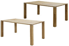 Wooden table isolated Royalty Free Stock Photo