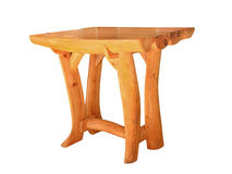 Wooden table.Isolated. Royalty Free Stock Photo