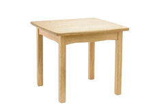 Wooden table. A little wooden oak table. Oiled wood Stock Images