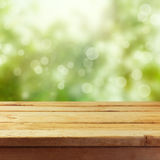 Wooden table mock up template background for product montage display royalty free stock image