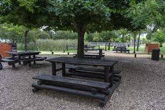 Wooden Table at the Park