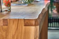 Wooden table in solid oak