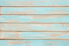 Wooden Table Teal Paint, Shabby Wood Surface. Old Texture For An Stock Images