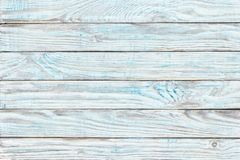 Wooden Table Teal Paint, Shabby Wood Surface. Old Texture For An Royalty Free Stock Photography