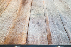 Wooden table top in industrial style Royalty Free Stock Images