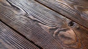 A wooden table top with a texture. Retro table. A wooden table top with a texture stock video