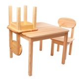 Wooden table with two chairs Stock Image