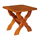 Wooden table on white background Royalty Free Stock Photo