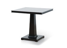 Wooden table. On white background Royalty Free Stock Photos