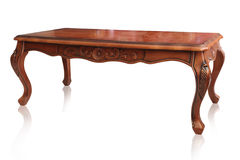 Wooden table on white background, clipping path. Stock Photography