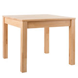 Wooden table on white background Stock Photos