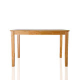 Wooden table on white background. Royalty Free Stock Photos