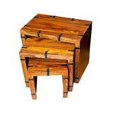 Wooden tables Royalty Free Stock Photo