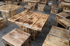 Wooden tables Royalty Free Stock Photography