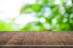 Wooden tabletop perspective for product placement Royalty Free Stock Photography