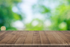 Wooden tabletop perspective for product placement Royalty Free Stock Photo