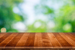 Wooden tabletop perspective for product placement Stock Photography