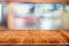 Wooden tabletop perspective for product placement Stock Images
