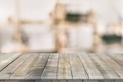 Wooden tabletop perspective for product placement Stock Photos
