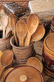 Wooden tableware Royalty Free Stock Photography