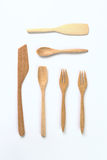 Wooden Tableware Royalty Free Stock Photos