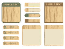 Wooden tabs and text boxes Royalty Free Stock Images