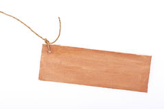 Wooden tag Royalty Free Stock Image