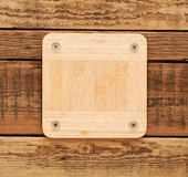 Wooden tag Royalty Free Stock Photography
