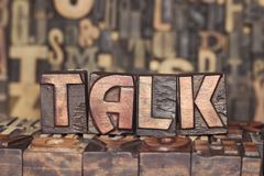 Wooden TALK concept Stock Photos