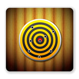 Wooden target icon Stock Images