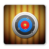 Wooden target icon Stock Photography