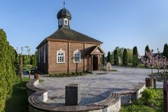 Wooden tatar mosque in Bohoniki, Poland. Wooden tatar-mosque from the 18th century one of the two oldest in Poland in Bohoniki Poland Royalty Free Stock Photos