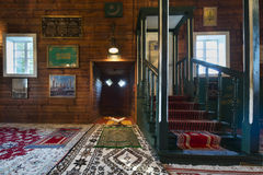 Wooden tatar mosque interior in Kruszyniany, Poland Stock Photography