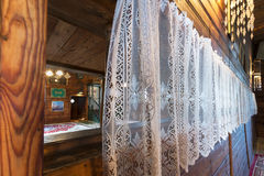 Wooden tatar mosque interior in Kruszyniany, Poland Royalty Free Stock Image