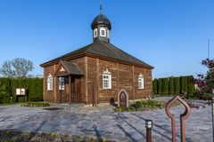 Wooden tatar mosque in Bohoniki, Poland. Wooden tatar-mosque from the 18th century one of the two oldest in Poland in Bohoniki Poland Stock Photo