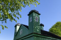 Wooden tatar mosque in Kruszyniany, Poland. Wooden tatar-mosque from the 18th century one of the two oldest in Poland in Kruszyniany, Poland Stock Image