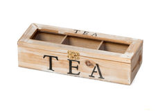 Wooden tea box Royalty Free Stock Photos