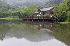 Wooden teahouse Stock Images